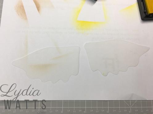 White vellum before inking
