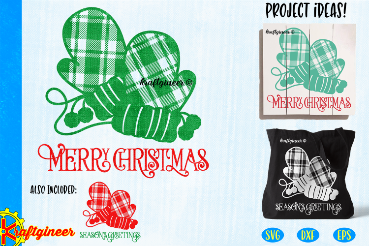 Kraftgineer_Plaid_Christmas_Mittens_1