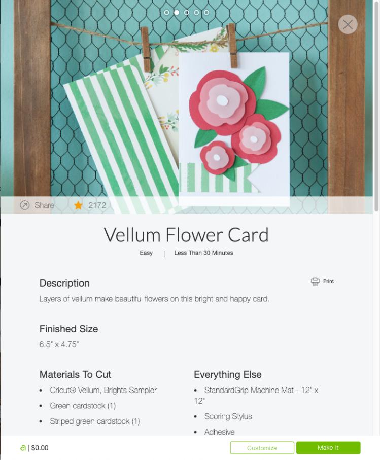Cricut Access Project: Vellum Flower Card – Lydia Watts