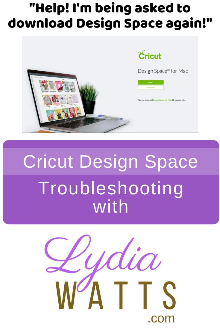 Help I Keep Having To Download Cricut Design Space For Desktop